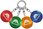 Round Soft Touch LED Keychains